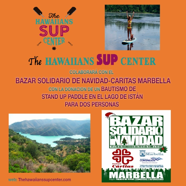 Bazar de Navidad Caritas Marbella Bautismo SUP The Hawaiians SUP Center